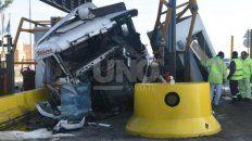 El accidente fue en la cabina de peaje, a la altura del kilómetro 22 de la autopista.