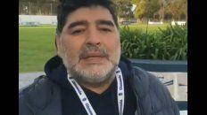Maradona arengó a Los Pumas