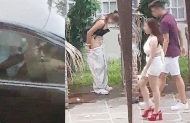 Excesos de todo tipo. Un joven consume cocaína dentro de su auto; una joven defeca en el jardín de una casa; una pareja termina de tener sexo en la vía pública.