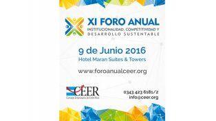 Se realiza en Paraná el XI Foro Anual Institucionalidad, Competitividad y Desarrollo Sustentable