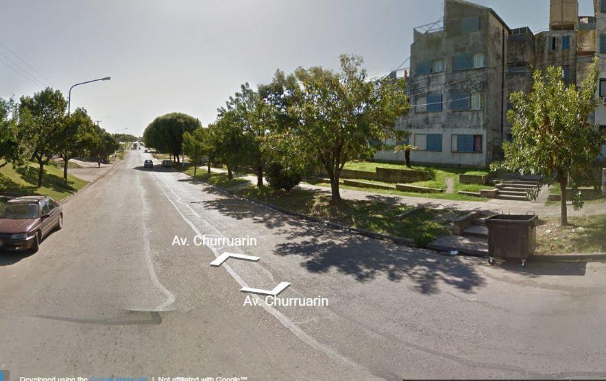 La detención de los dos acusados se produjo hoy a la madrugada en avenida Churruarín. Foto Google Maps.
