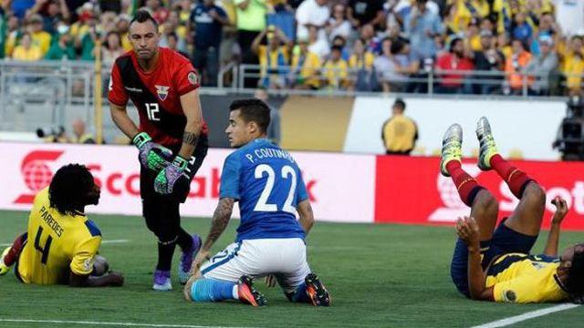 Brasil y Ecuador igualaron sin goles