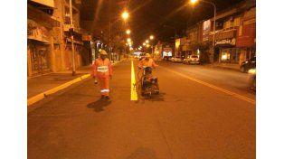 Comenzaron a demarcar las calles para el nuevo ordenamiento de tránsito