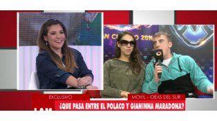 La reacción de Gianinna Maradona cuando la cruzaron en vivo con El Polaco