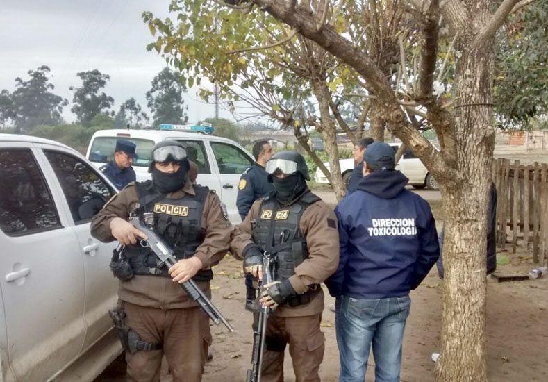 Seguridad. Los efectivos de Tóxico estuvieron custodiados por las fuerzas especiales de la Policía.