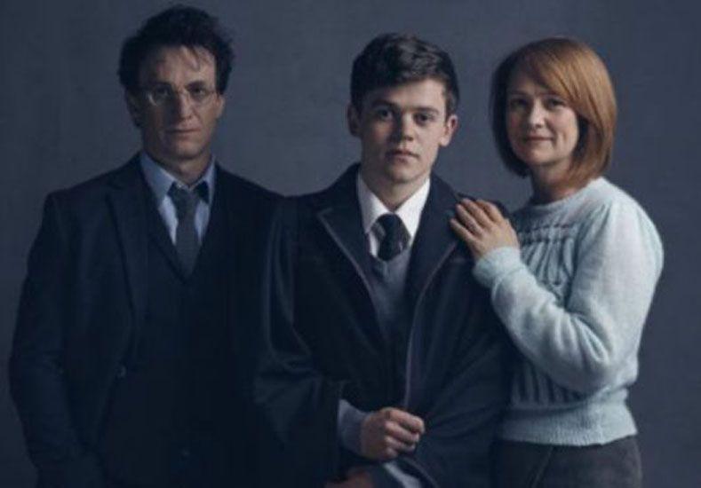Harry y Ginny con su hijo Albus Severus