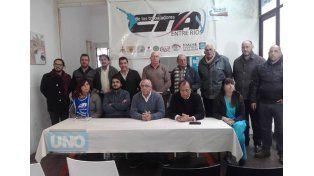 Los representantes de las dos ramas de la CTA en la conferencia de prensa. Foto gentileza Santiago Estefani.
