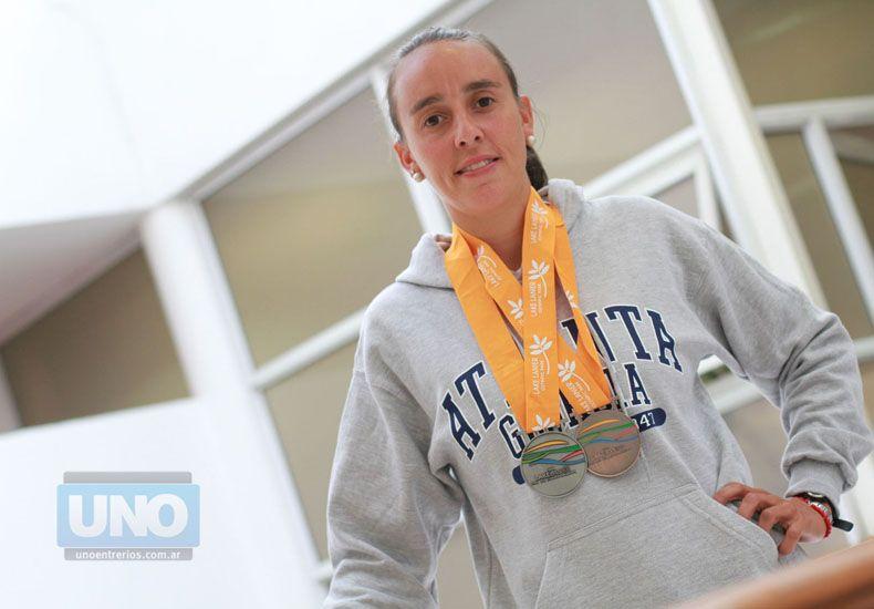 La entrerriana habló de sus logros en el certamen Panamericano de Velocidad.  Foto UNO/Juan Ignacio Pereira