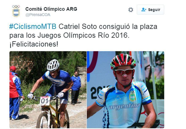 EN LAS REDES. El ciclista de Colón recibió el afecto de los seguidores en las redes sociales. La noticia recorrió el mundo.
