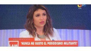 Julia Mengolini contestó a los que la trataron de panqueque