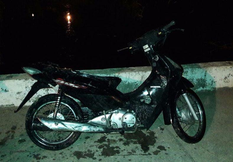 Rescataron moto robada