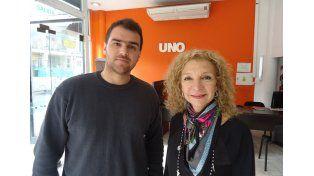 Julián Osoro y Mabel Homar en UNO