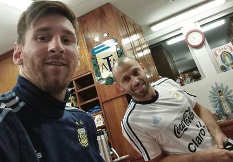 Messi y Mascherano. Foto: Instagram