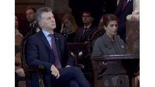 Macri y su esposa Juliana Awada.  Foto: Captura de video