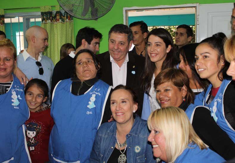 La vicepresidenta de la nación visitó Paraná XX. Foto prensa SUMA.