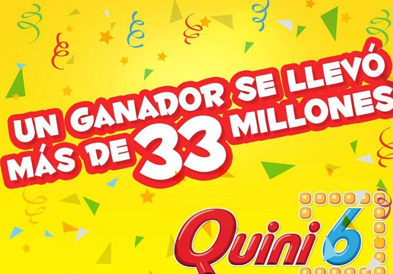Un apostador se llevó más de 33 millones en el Quini 6