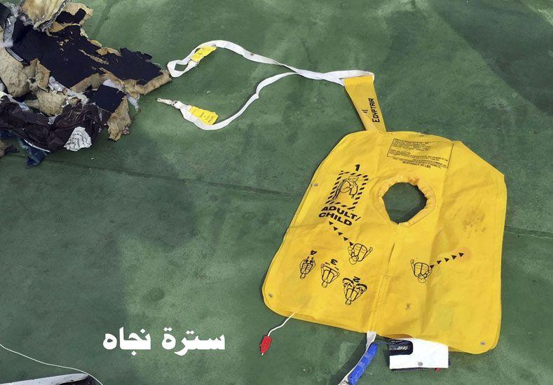 Encontraron las cajas negras del vuelo de Egyptair que cayó el jueves pasado