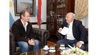 Héctor Maya dio su apoyo al gobernador Bordet