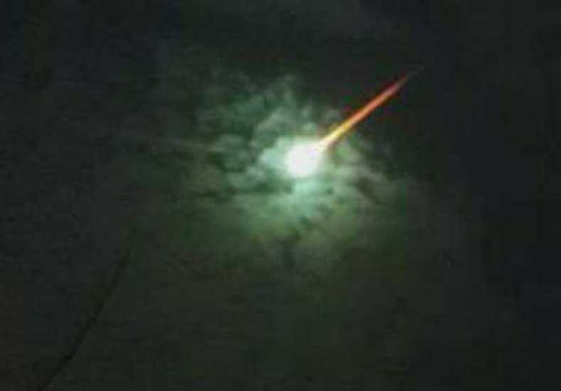 Así se vio el meteorito que cayó en la costa Atlántica