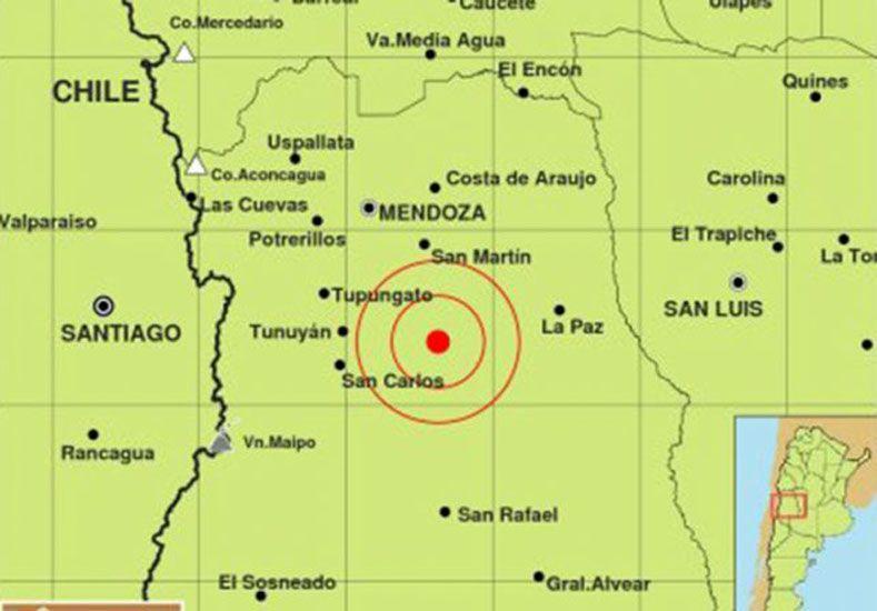 Sismo en Mendoza