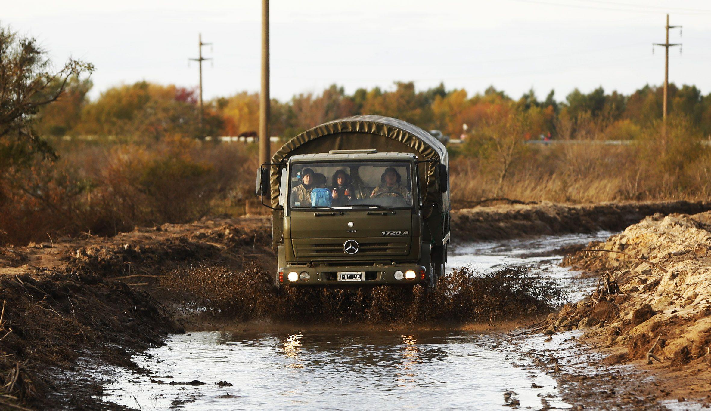 Muchas rutas entrerrianas continúan anegadas. Foto prensa Desarrollo Social.