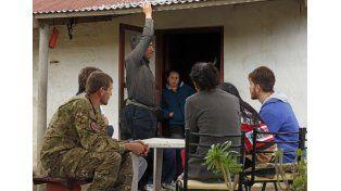 El ejército colabora con los profesionales de la Salud. Foto prensa Desarrollo Social.