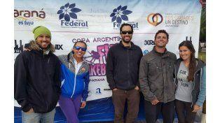 Los integrantes de la subcomisión de wakeboard y wakeskate. Foto Club Náutico.