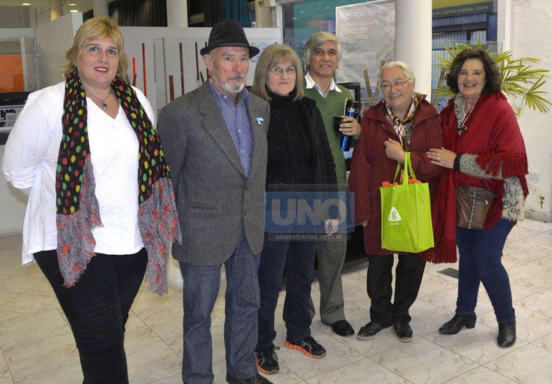 Confraternidad. Los gestores del evento en Diario UNO. Foto UNO/Mateo Oviedo