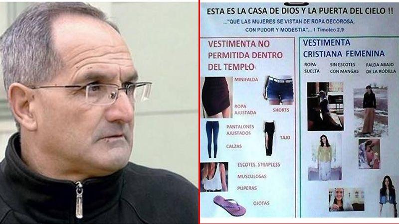 El cura que prohibió las calzas salió con otra declaración polémica