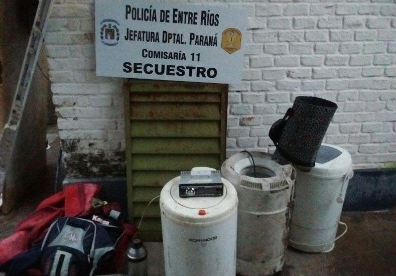 Dos detenidos y secuestro de elementos robados en Bajada Grande