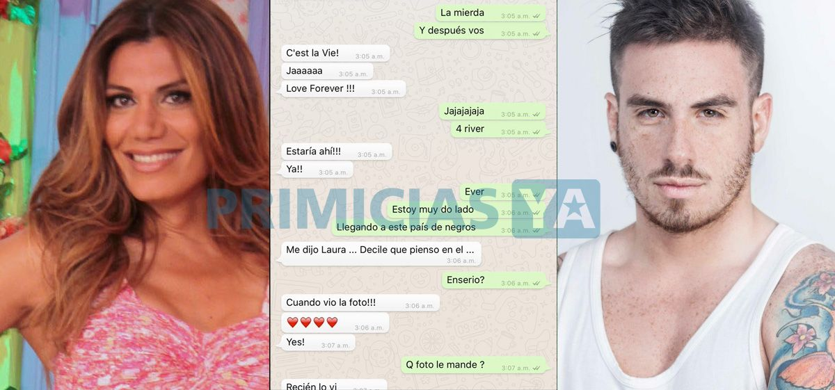 Chat de Fede Bal con Flor de la V donde reconoce en la noche del escándalo: estoy muy doblado