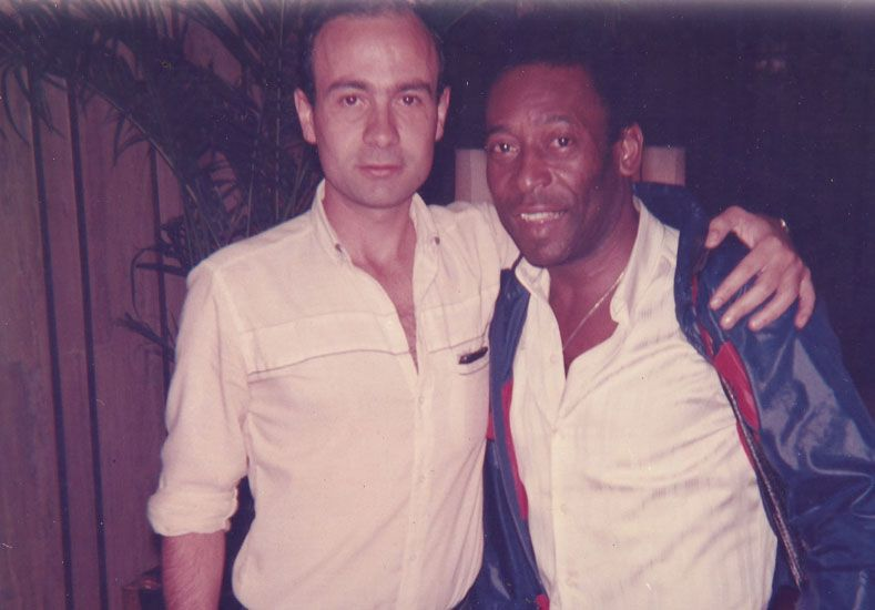Con Pelé.