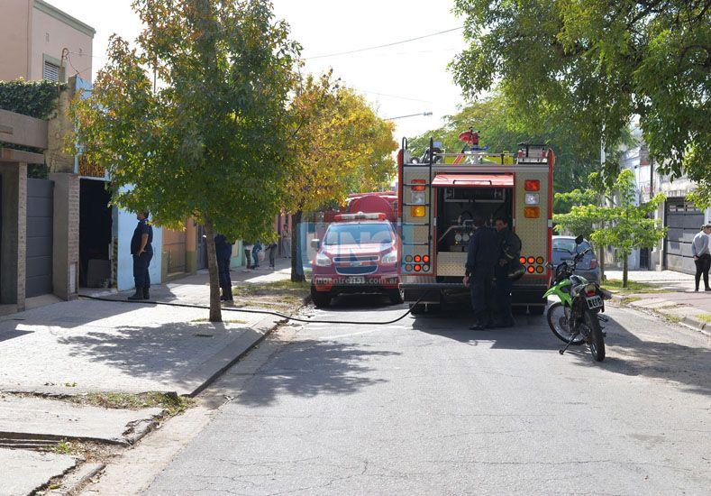 Se incendió un taller de chapa y pintura en Paraná