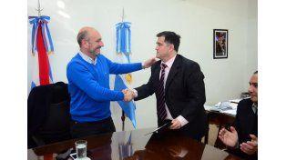 Lucchetti asumió en el despacho del ministro De la Rosa. (Foto: Prensa Ministerio de Salud)
