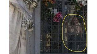 La inexplicable imagen de un niño dentro de una cripta causa estupor en Salto