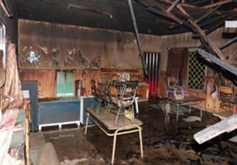 Investigan el incendio ocurrido en una escuela de Villaguay