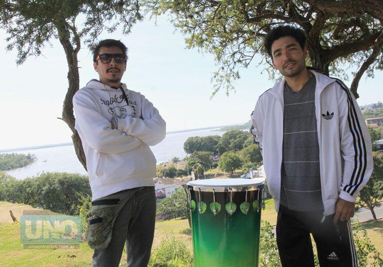 Raíz Nativa Tambores es un emprendimiento que se estableció en Paraná y el taller servirá para presentar los sonidos en sociedad. Foto UNO Juan Ignacio Pereira.