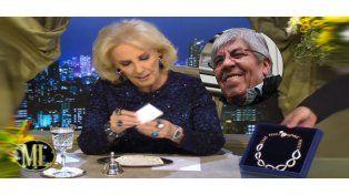 Cuánto cuestan las joyas que Hugo Moyano le regaló a Mirtha Legrand