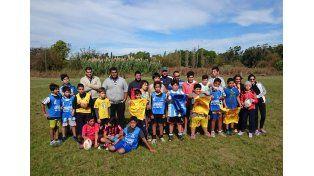 Los chicos vivieron ayer una gran jornada en el predio del Atlético Echagüe Club (ex-Álamo).