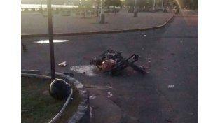 Murió el acompañante del motociclista fallecido esta mañana en la costanera de Paraná
