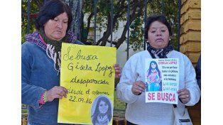 Foto: La Marcha de la comunidad pidiendo por su aparición. Foto: Gentileza Oscar Cuenca