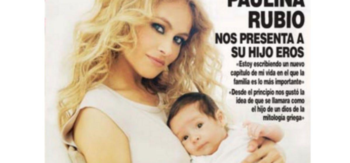 Paulina Rubio presentó en sociedad a su segundo hijo