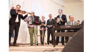 Canción de la Ciudad. Músicos ofrecieron una versión renovada.  Foto Gentileza/Municipalidad de Crespo