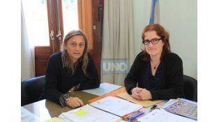 Equipo. Paira y Reutlinger compartiendo un día de trabajo.   Foto UNO/Juan Ignacio Pereira