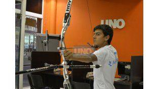 El entrerriano estará  representando al país en la categoría Cadetes en Recurvado. Foto UNO/Mateo Oviedo