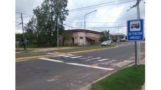 El lugar del accidente. (Foto: Diario Río Uruguay)