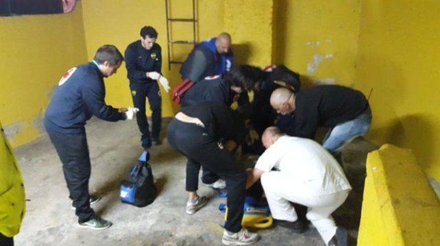 Un hincha se cayó de una tribuna de La Bombonera