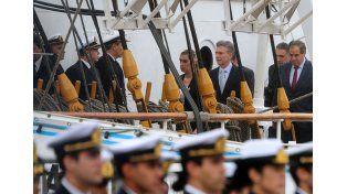 El Presidente dio la orden de zarpada para un nuevo viaje de la Fragata Libertad