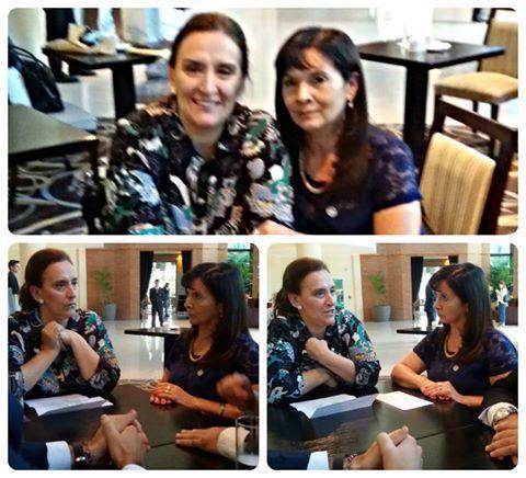 Hace cuatro días Trimarco se reunió con la Vicepresidenta de la Nación Gabriela Michetti. Foto Facebook  Fundación María de los Ángeles.