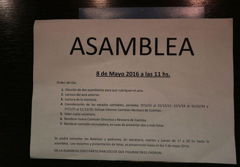 Lo de mayo. La dirigencia dio a conocer la fecha para llamar a elecciones de nuevas autoridades de la entidad de Paraná.   Foto UNO/Diego Arias